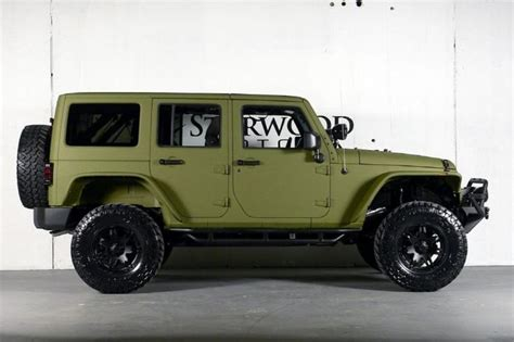 jeep unlimited green 2013 jeep wrangler unlimited in rescue green starwood