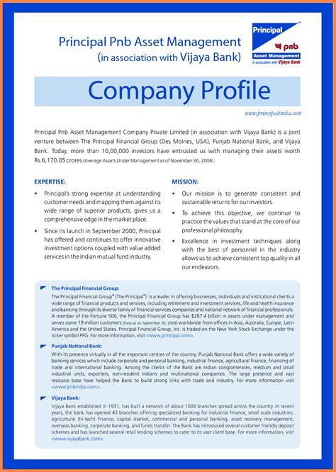 sample company profile template  company letterhead