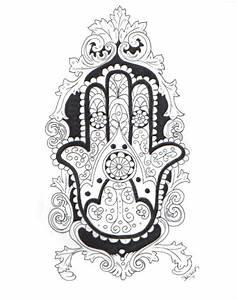 Hand Of Fatima Sketch Fatima's hand (hamsa). by