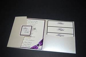 silver wedding invitation pocketfold invitation rhinestone With purple pocket wedding invitations uk