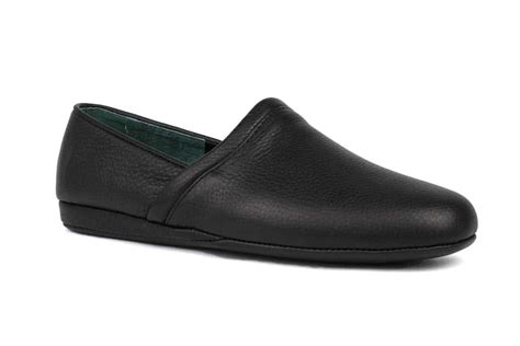 Mens Leather Bedroom Slippers-bestsciaticatreatments.com