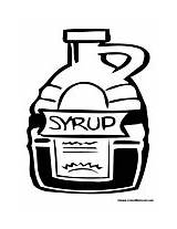 Syrup Coloring Pages Bottle Condiments Condiment Colormegood sketch template