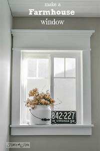 how to make a farmhouse window with mouldingfunky junk
