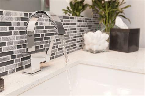 gray white tile modern bathroom remodel modern