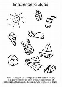 Creme Solaire Dessin : coloriage imprimer imagier de la plage ~ Melissatoandfro.com Idées de Décoration