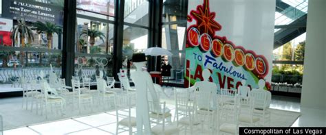 Cosmopolitan Las Vegas' Pop-up Wedding Chapel (photos
