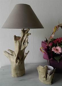 Lampe Chevet Bois Flotté : lampe en bois flotte maison design ~ Teatrodelosmanantiales.com Idées de Décoration