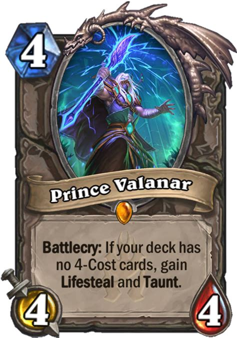 Hearthstone Taunt Deck 2017 by Prince Valanar Hearthstone Card