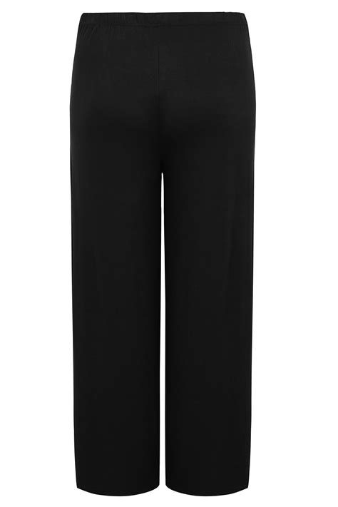 Bump Maternity Black Palazzo Trousers With Comfort