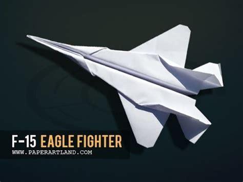 papierflieger selber basteln papierflieger selbst basteln papierflugzeug falten beste origami flugzeug f 15 eagle