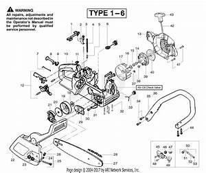 Poulan 2150 Predator Gas Saw Type 1  Predator 2150 Gas Saw Type 1 Parts Diagram For Handle