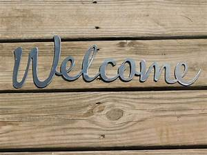 welcome sign metal farmhouse sign metal letters welcome With welcome sign letters