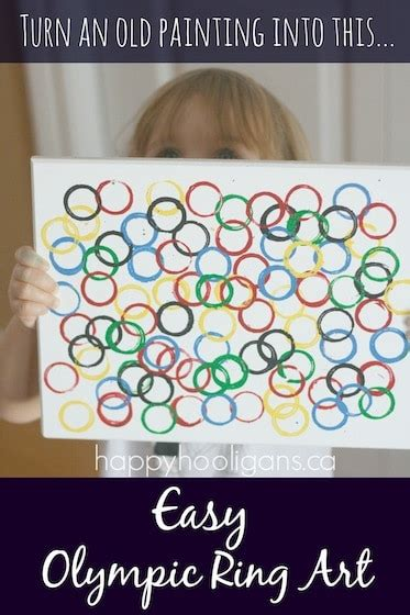 olympic ring for to make happy hooligans 714 | Easy Olympic Ring Art