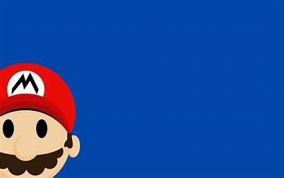 Mario Bros Nintendo Super Minimalism Games Background