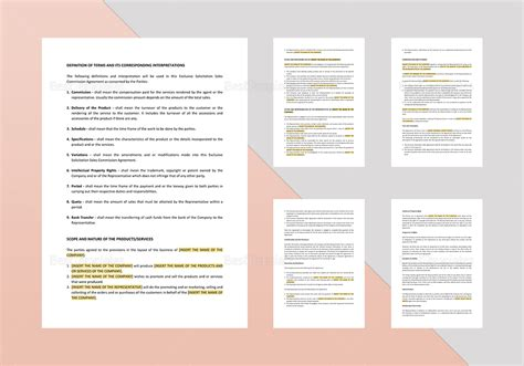 exclusive solicitation sales commission agreement template
