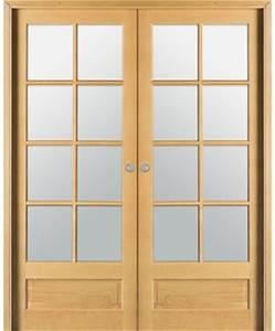 Porte Coulissante Angle Droit : double porte coulissante access 4 carreaux bois plaqu ~ Melissatoandfro.com Idées de Décoration