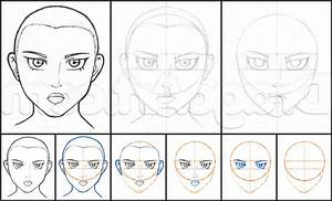 How To Draw A Anime Face For Beginners Drawing Anime Faces ...