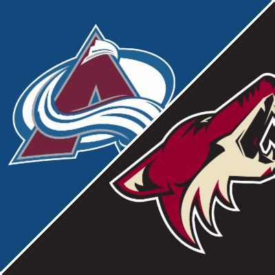 avalanche  coyotes game summary december