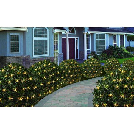 how to attach net lights to hedges time 200 count heavy duty net lights clear walmart
