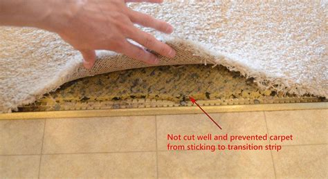 how to cut a rug how to fix frayed carpet at tile transition home