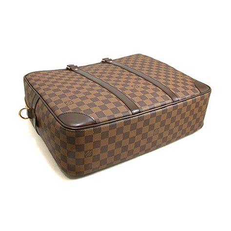 louis vuitton  porte documents voyage gm briefcase damier ebene canvas