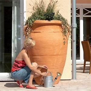 Récupérateur D Eau 1000 Litres : r cup rateur d 39 eau amphore antik terracotta 250 litres ~ Dailycaller-alerts.com Idées de Décoration