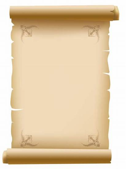 Paper Clipart Decorative Scrolled Letter Ancient Roll
