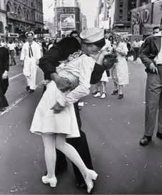 Image result for sailor kiss photo