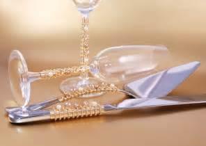 wedding cake serving set wedding cake server set and toasting flutes