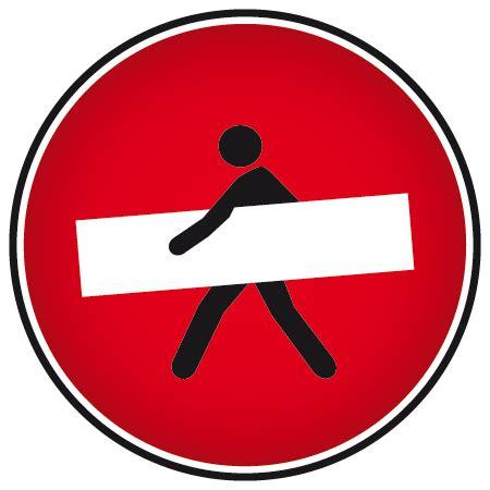 couleur pour bureau stickers humour sens interdit stickers malin