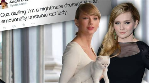 abigail breslin calls taylor swift  unstable cat lady