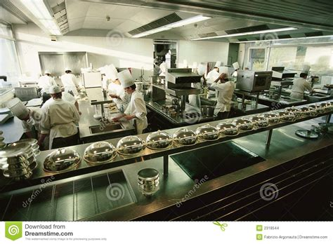 cuisine kitchen big luxury restaurant kitchen stock images image 2318544