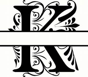Personalized monogram initial letter k family wall quote