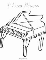 Coloring Piano Grand Favorites Login Outline sketch template