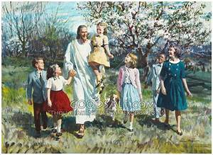 Christ Walking With Children