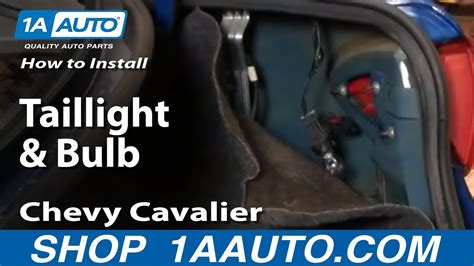 How Install Replace Taillight Bulb Chevy Cavalier