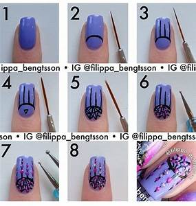 Latest nail art step by and tattoo design