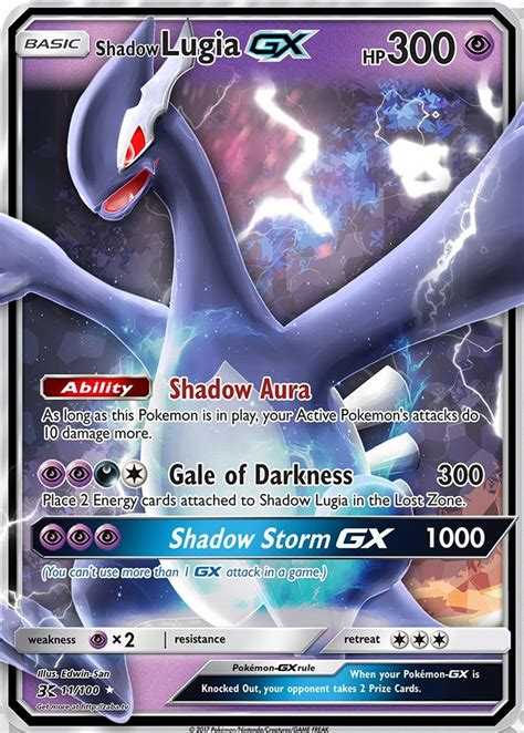 Buy and sell shadow lugia (pr ) singles in europe's largest online marketplace for pokémon. Shadow Lugia GX Custom Pokemon Card   Shadow lugia, Pokemon cards legendary, Pokemon cards