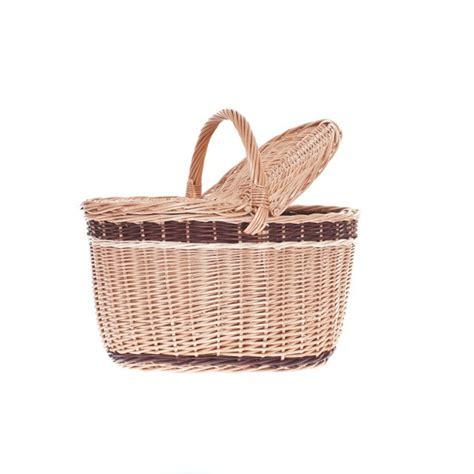 shabby chic baskets shabby chic wicker picnic basket with bicycle basket tytuł sklepu zmienisz w dziale