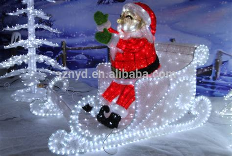outdoor christmas decorations  sleigh  santa