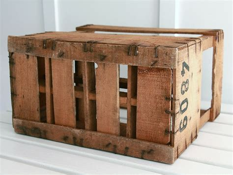 french wooden wine crate bayside vintage