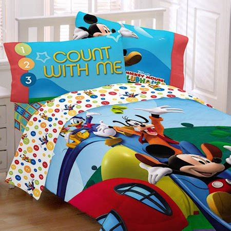 mickey mouse bed disney mickey mouse clubhouse sheet set walmart