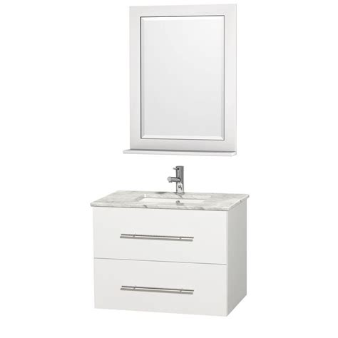 wyndham collection centra 30 in vanity in white with