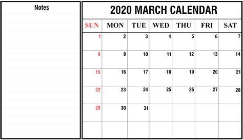 march  calendar printable templates
