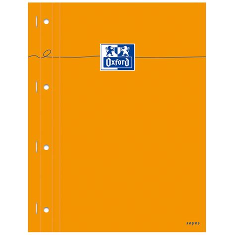 bloc note sur bureau oxford bloc bureau perforé 23 x 29 7 cm 160 pages grands