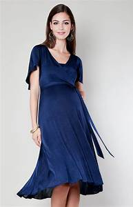 Cocoon nursing dress velvet blue maternity wedding for Nursing dress for wedding