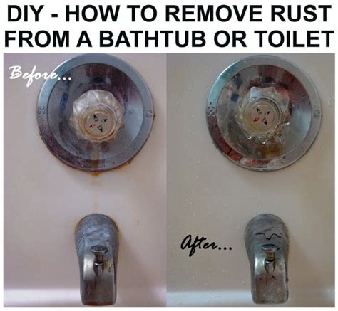 rust remove bathtub toilet sink diy stains easy tub clean bath removeandreplace shower cleaning without ways surfaces