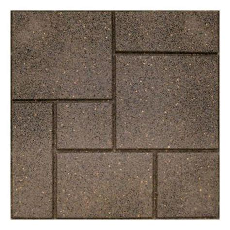 recycled rubber flooring home depot envirotile cobblestone 18 in x 18 in earth paver 4
