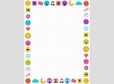 Emoji Border Clip Art, Page Border, and Vector Graphics