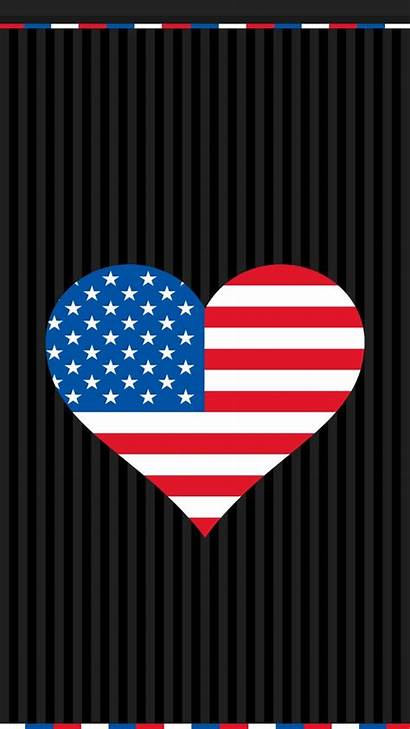 July 4th Fourth Patriotic Iphone Wallpapers Heart